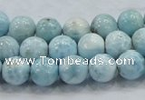 CLR17 15.5 inches 10mm round grade A natural larimar gemstone beads