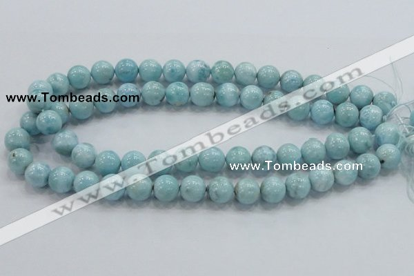 CLR18 15.5 inches 12mm round grade A natural larimar gemstone beads