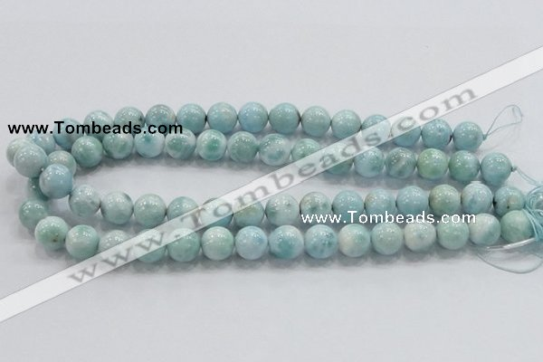 CLR20 15.5 inches 12mm round grade AA natural larimar gemstone beads