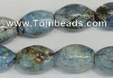 CLR206 15.5 inches 13*18mm rice larimar gemstone beads