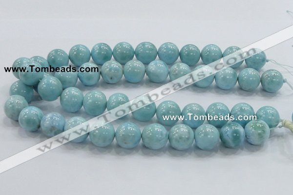 CLR22 15.5 inches 16mm round grade AA natural larimar gemstone beads