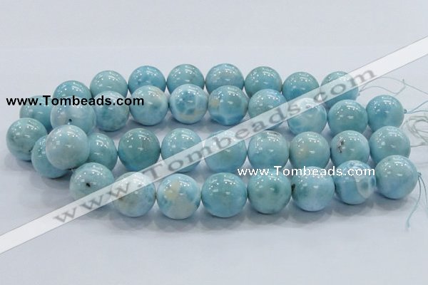 CLR24 15.5 inches 20mm round grade AA natural larimar gemstone beads