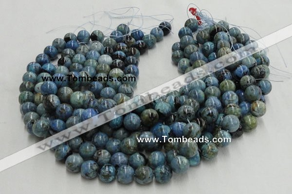CLR29 16 inches 20mm round larimar gemstone beads wholesale