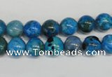 CLR302 15.5 inches 8mm round dyed larimar gemstone beads