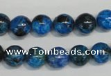 CLR303 15.5 inches 10mm round dyed larimar gemstone beads