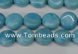 CLR360 15.5 inches 10mm flat round dyed larimar gemstone beads