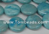 CLR362 15.5 inches 14mm flat round dyed larimar gemstone beads