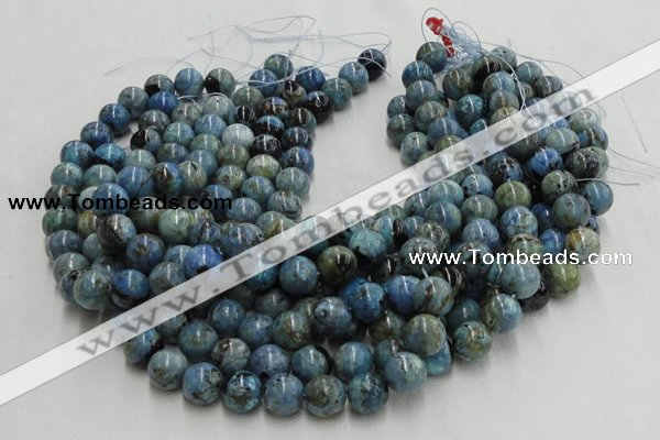 CLR37 16 inches 4mm round larimar gemstone beads wholesale