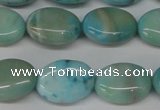 CLR372 15.5 inches 10*14mm oval dyed larimar gemstone beads