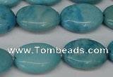 CLR373 15.5 inches 12*16mm oval dyed larimar gemstone beads