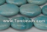 CLR375 15.5 inches 15*20mm oval dyed larimar gemstone beads
