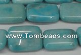CLR393 15.5 inches 12*16mm rectangle dyed larimar gemstone beads
