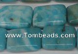 CLR395 15.5 inches 15*20mm rectangle dyed larimar gemstone beads