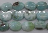 CLR40 15.5 inches 10*14mm oval natural larimar gemstone beads