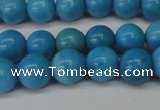 CLR400 15.5 inches 4mm round dyed larimar gemstone beads