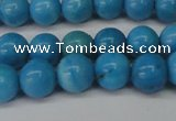 CLR401 15.5 inches 6mm round dyed larimar gemstone beads