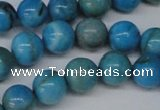 CLR402 15.5 inches 8mm round dyed larimar gemstone beads