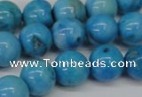 CLR404 15.5 inches 12mm round dyed larimar gemstone beads
