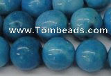 CLR405 15.5 inches 14mm round dyed larimar gemstone beads