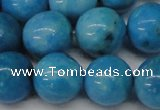 CLR406 15.5 inches 16mm round dyed larimar gemstone beads