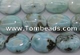 CLR41 15.5 inches 12*16mm oval natural larimar gemstone beads