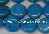 CLR415 15.5 inches 20mm flat round dyed larimar gemstone beads