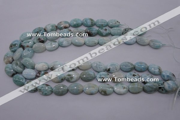 CLR42 15.5 inches 13*18mm oval natural larimar gemstone beads