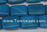 CLR442 15.5 inches 12*16mm rectangle dyed larimar gemstone beads