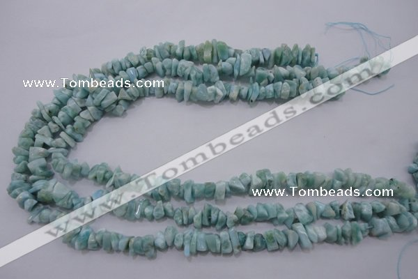 CLR45 15.5 inches 3*8mm – 4*10mm natural larimar chips beads