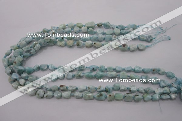 CLR46 15.5 inches 6*7mm – 10*12mm nuggets natural larimar beads
