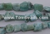 CLR47 15.5 inches 5*7mm � 10*12mm nuggets natural larimar beads