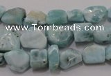 CLR48 15.5 inches 6*7mm � 10*14mm nuggets natural larimar beads