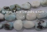 CLR51 15.5 inches 8*10mm � 12*16mm nuggets natural larimar beads