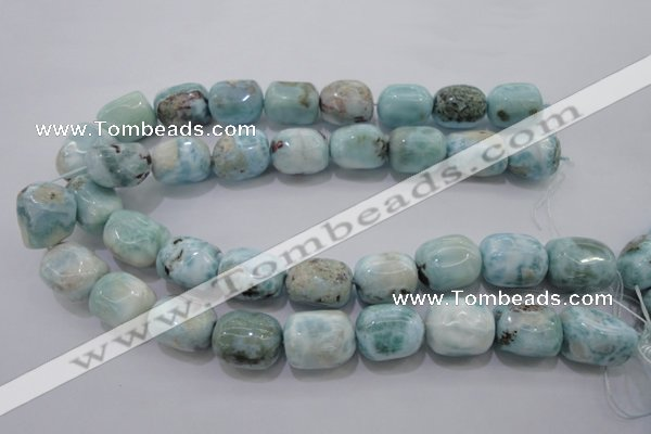 CLR53 15.5 inches 15*20mm � 18*22mm nuggets natural larimar beads