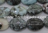 CLR55 15.5 inches 13*18mm oval natural larimar gemstone beads
