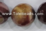 CLS07 15.5 inches 30mm faceted round large mookaite gemstone beads