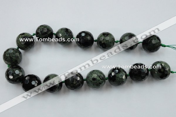 CLS107 15.5 inches 25mm faceted round kambaba jasper beads
