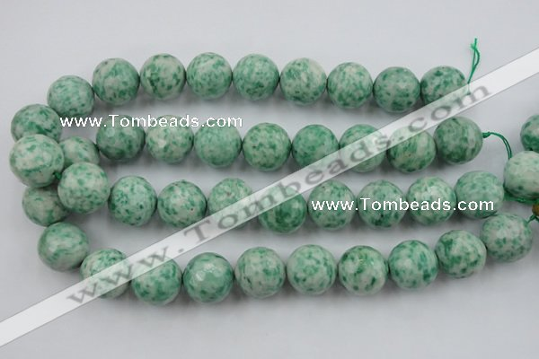 CLS150 15.5 inches 20mm faceted round Qinghai jade beads
