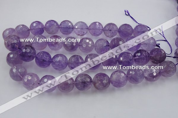 CLS153 15.5 inches 20mm faceted round lavender amethyst beads