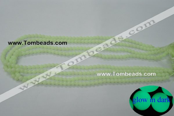 CLU01 15.5 inches 4mm round luminous stone beads wholesale
