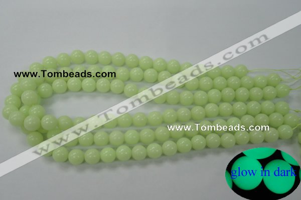 CLU04 15.5 inches 10mm round luminous stone beads wholesale