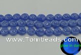CLU173 15.5 inches 14mm flat round blue luminous stone beads
