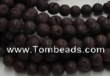 CLV200 15.5 inches 6mm round coffee natural lava beads wholesale
