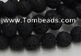 CLV213 15.5 inches 10mm round black natural lava beads wholesale