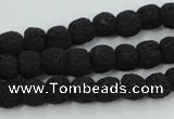 CLV378 15.5 inches 8mm ball dyed lava beads wholesale
