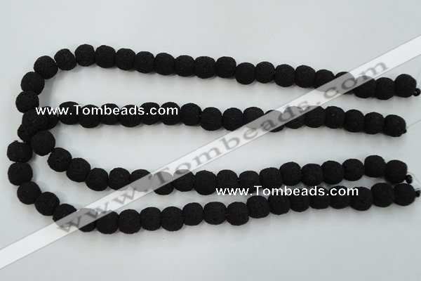 CLV379 15.5 inches 10mm ball dyed lava beads wholesale