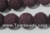 CLV480 15.5 inches 16mm round dyed purple lava beads wholesale