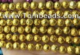 CLV554 15.5 inches 10mm round plated lava beads wholesale