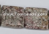 CMB24 15.5 inches 30*30mm square natural medical stone beads