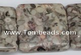CMB25 15.5 inches 40*40mm square natural medical stone beads
